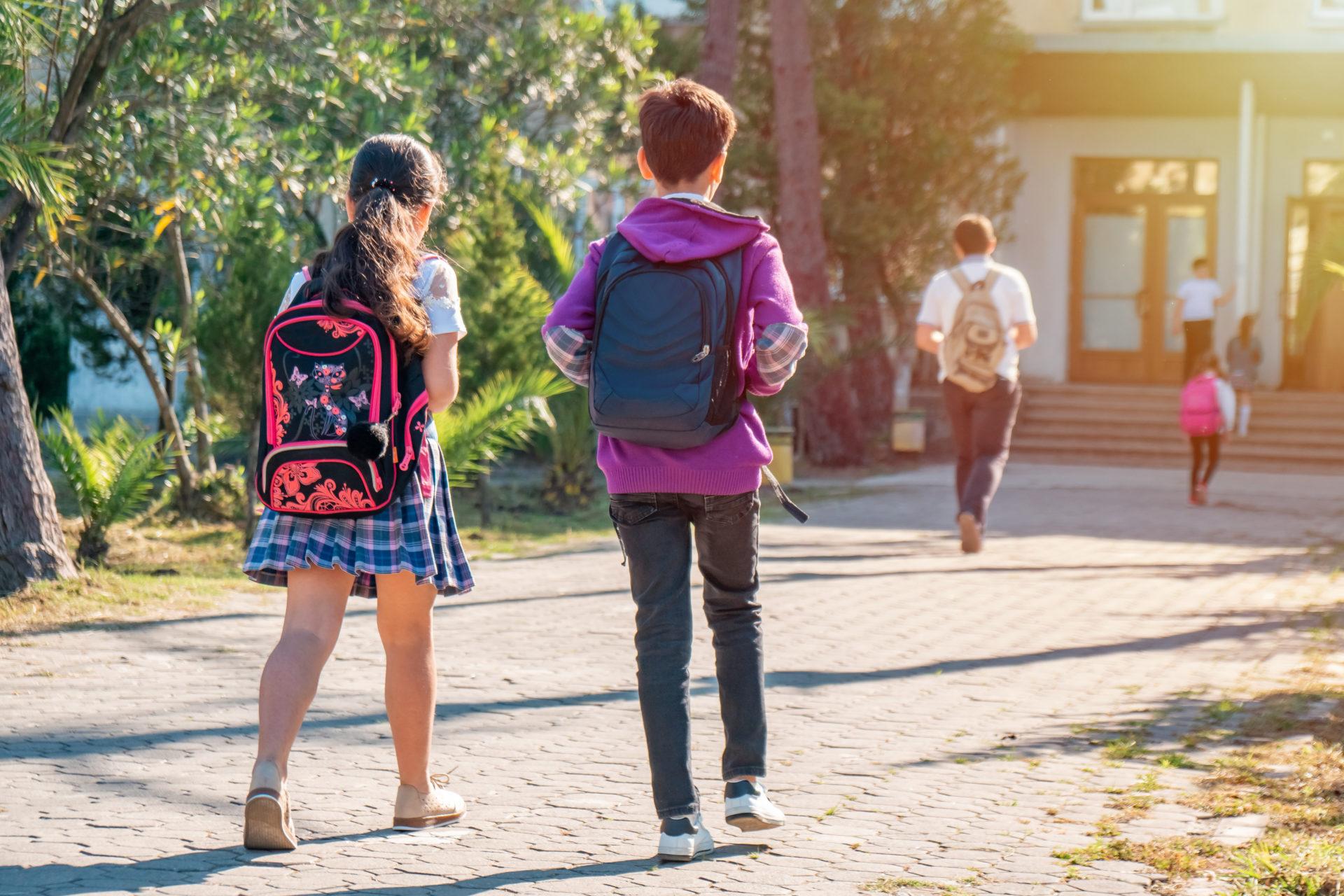 Dzieci idą do szkoły